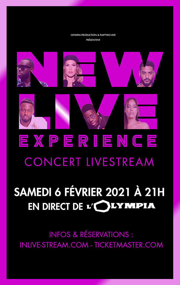 New Live Experience, show Live stream samedi 6 février 2021