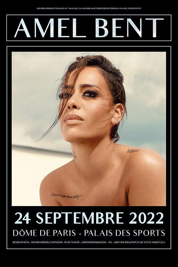 Amel Bent en concert au Palais des Sports de Paris samedi 24 septembre 2022