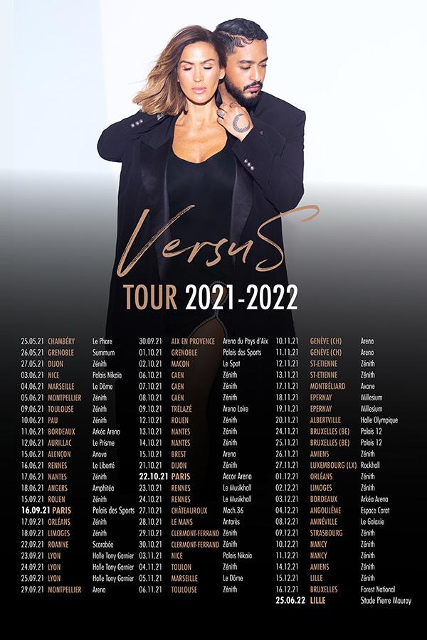 Vitaa & Slimane - VersuS Tour, toutes les dates de concert en 2021